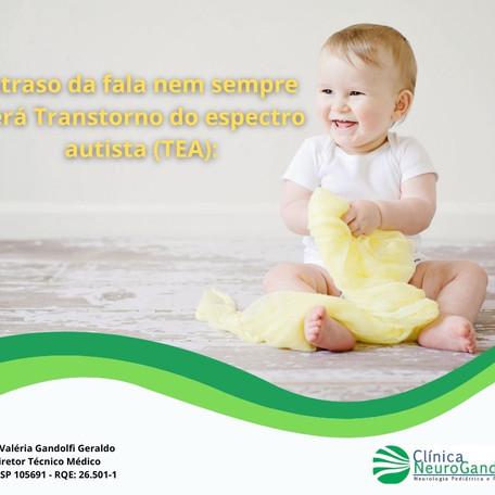 Atraso da fala nem sempre será Transtorno do espectro autista (TEA)!