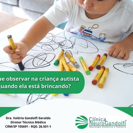 O que observar na criança autista quando ela está brincando?