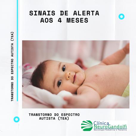 Sinais de Alerta de Autismo aos 4 meses