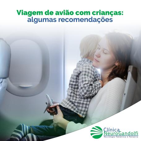 Viagem de avião com as crianças: algumas recomendações