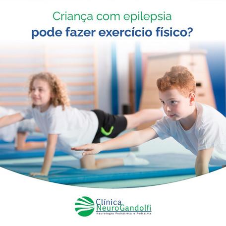 Criança com epilepsia pode fazer exercício físico?