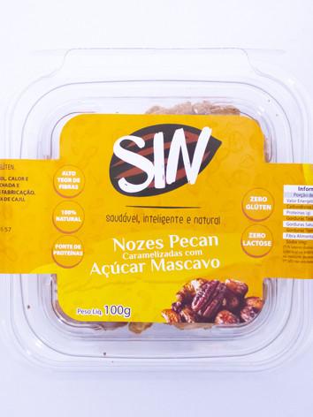 Nozes Pecan Caramelizada com Açúcar Mascavo