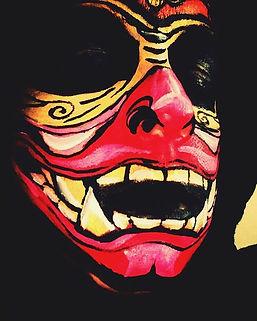 Samurai mask#dupemag#facepaint#bodypaint