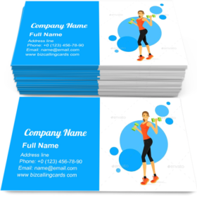Woman-Show-Bicep-Business-Card-Template-