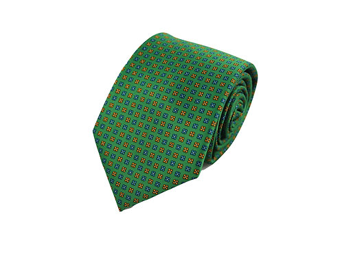 Flower squares 100% silk tie