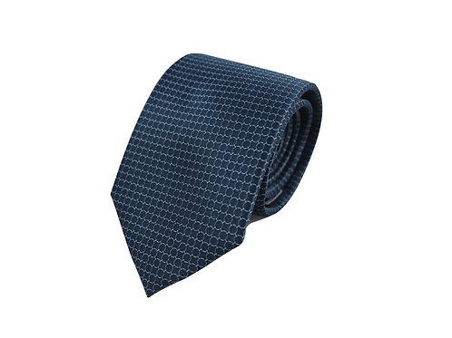 Chain pattern 100% silk tie