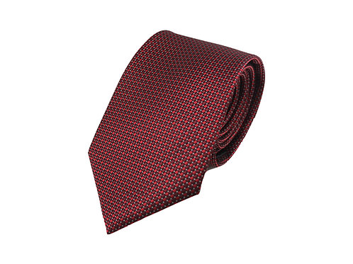 Burgundy structured 100% silk tie