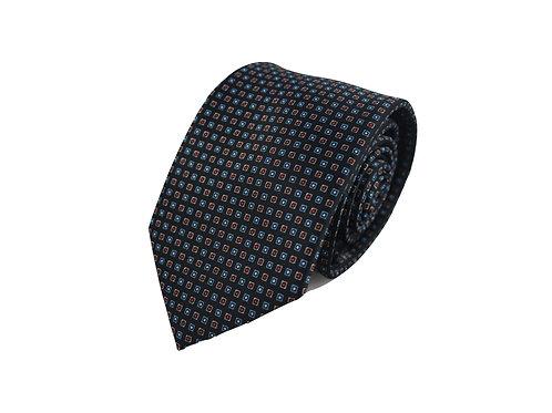 Micro squares 100% silk tie