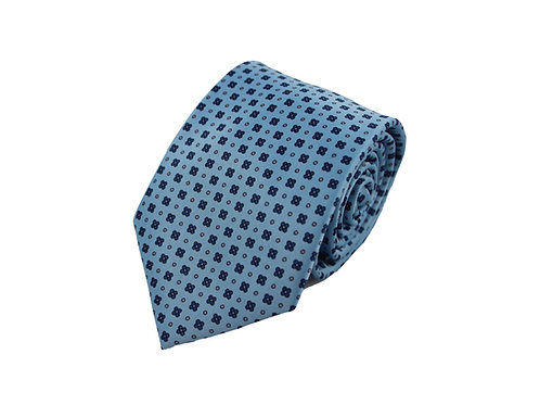 Classic flowers with dots 100% silk tie