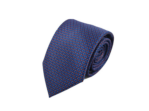 Chain pattern 100% silk tie