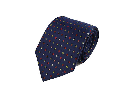 Squares and circles 100% silk tie