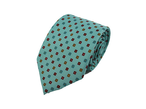 Flower pattern 100% silk tie