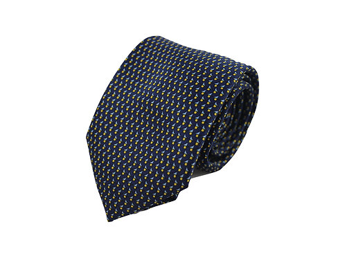 Geometric patterns 100% silk tie