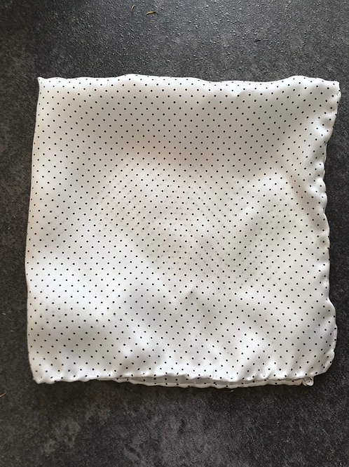 White polka dots - 100% silk