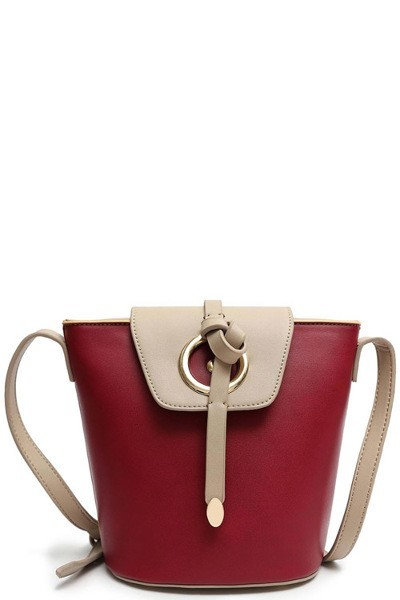 Colorblock Bucket Satchel