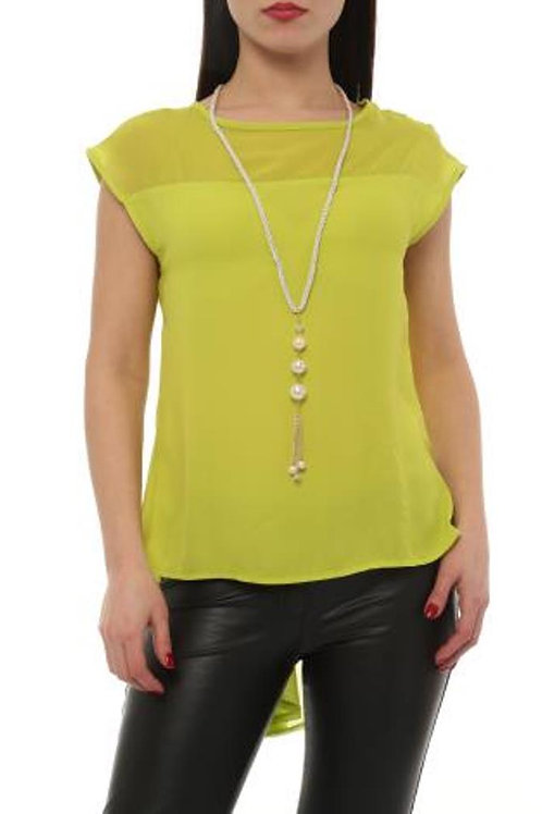 LIME WATERFALL BACK TOP