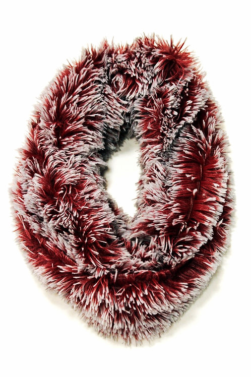 Two-tone Furry Infinity Scarf