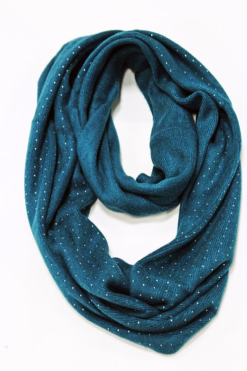 Infinity Knit Scarf with Stones