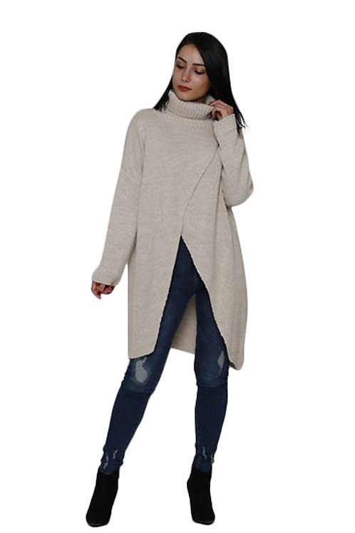 CROSSOVER TUNIC SWEATER