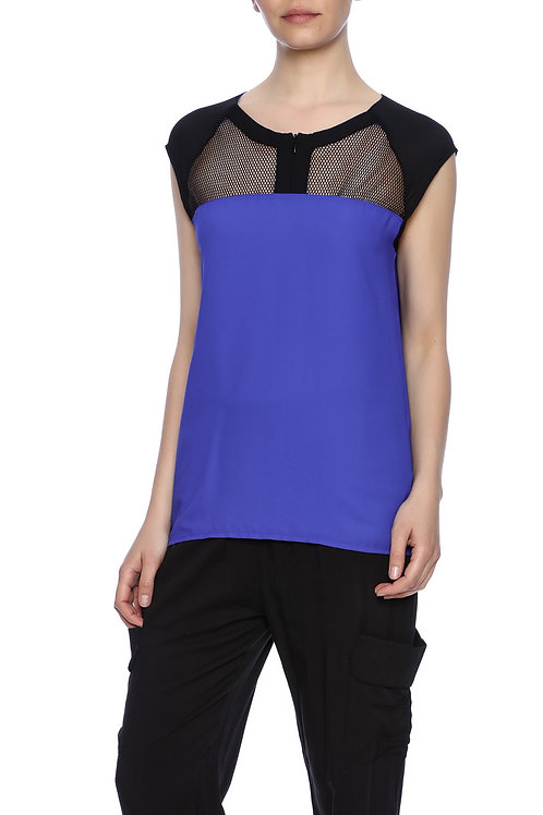 BLUE MESH INSERTED TOP