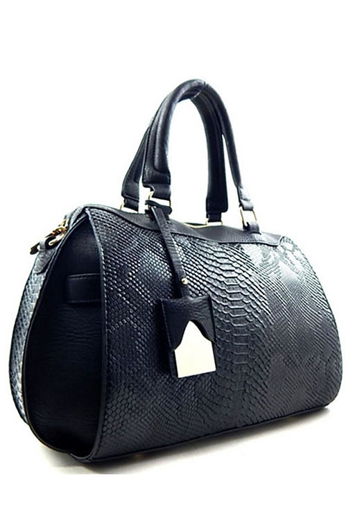 Faux-snake shoulder bag
