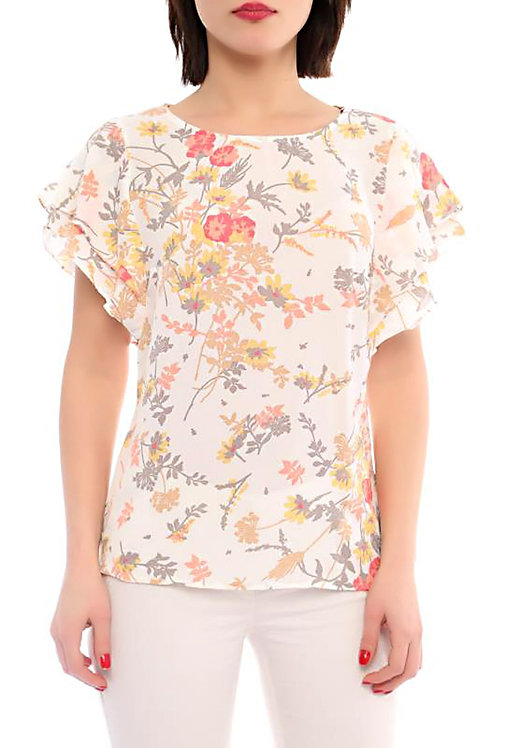 Flower Print Crop Top