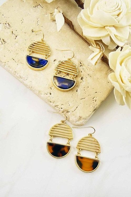 Oval Geo Earrings