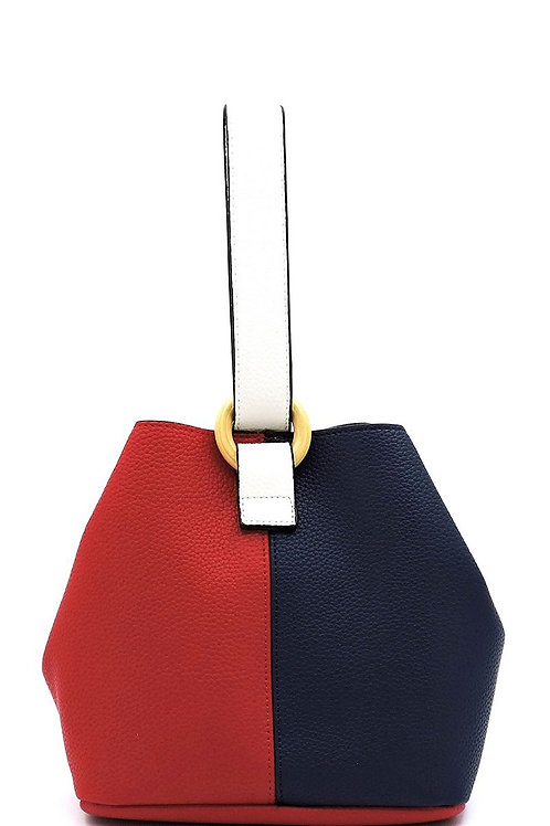 COLORBLOCK BUCKET BAG