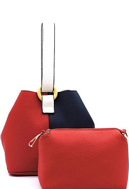 COLORBLOCK BUCKET BAG