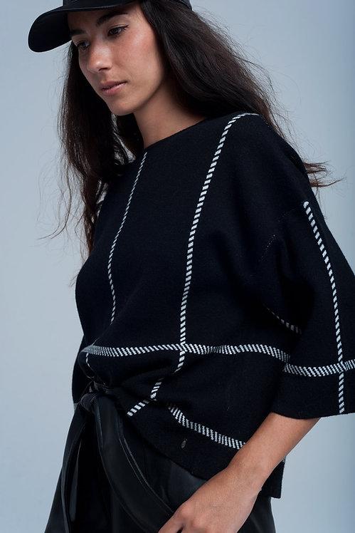 Striped Crop Sweater