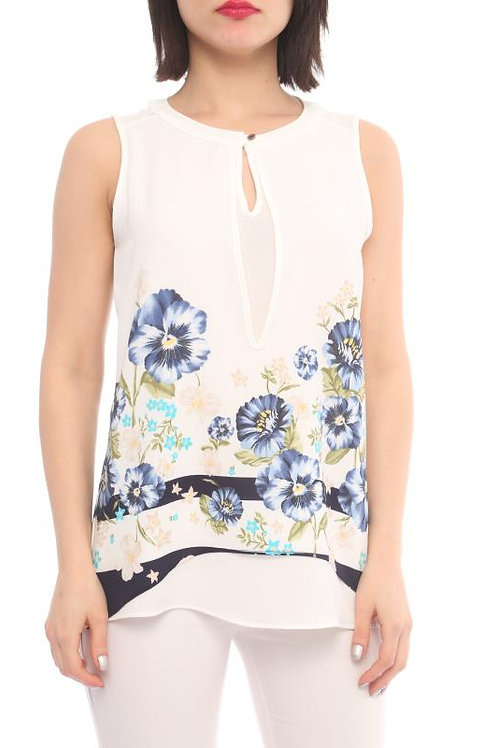Flower Printed Layered Top