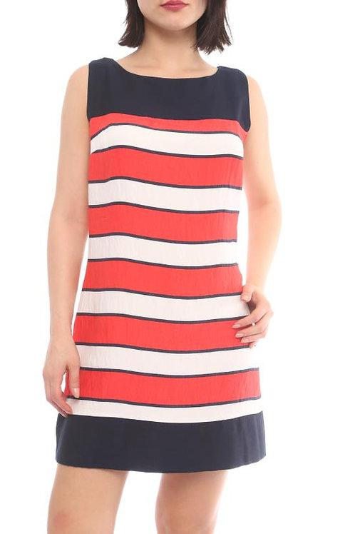 Mini color block dress front