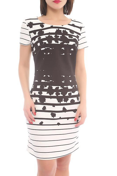 Strip Fitted Dress