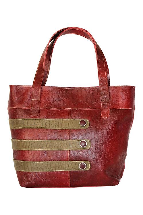 Two-tone Leather Hobo