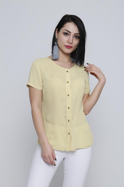 Yellow Button down Top