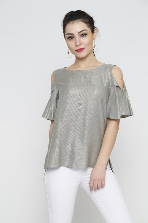 FOLD-OVER SLEEVES TOP