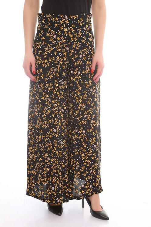 Floral Wide-leg Pant