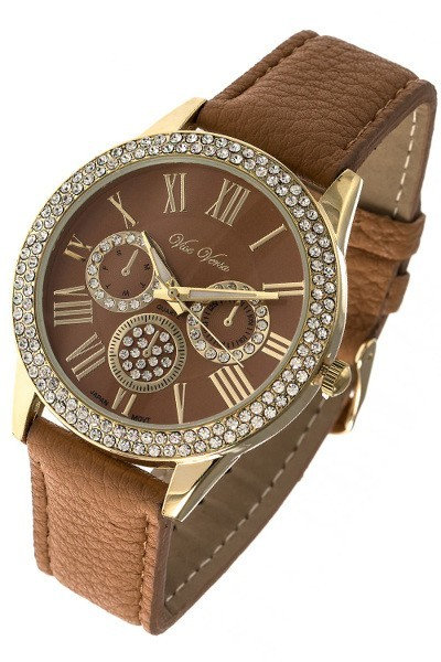Multi Dial Crystal Encrusted Watch