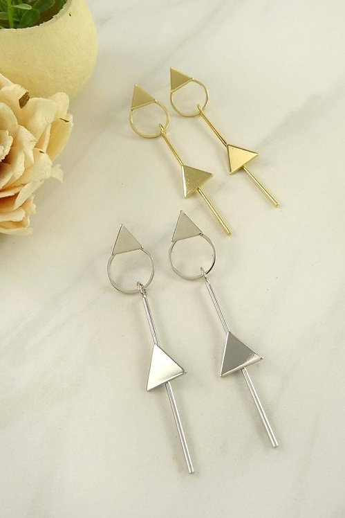 SARAH GEO TRIANGLE LINE EARRINGS