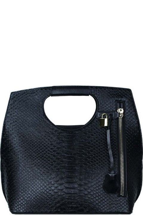 Faux-snake Leather Handbag