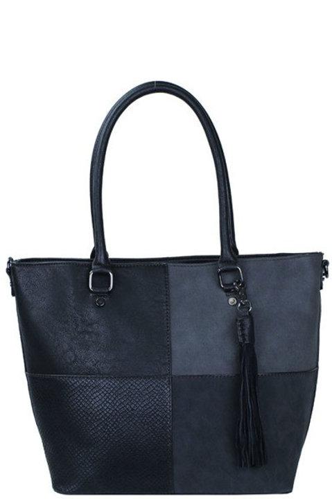 Three Compartments Tote Bag