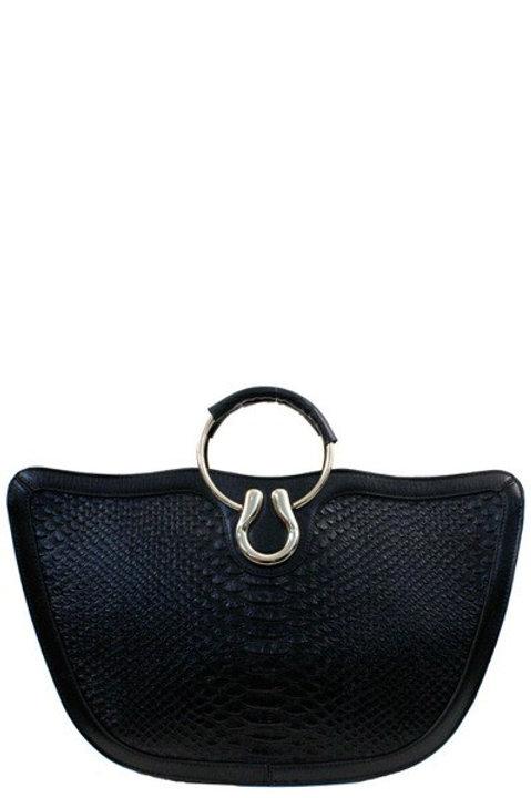 Faux-snake Leather Handbag