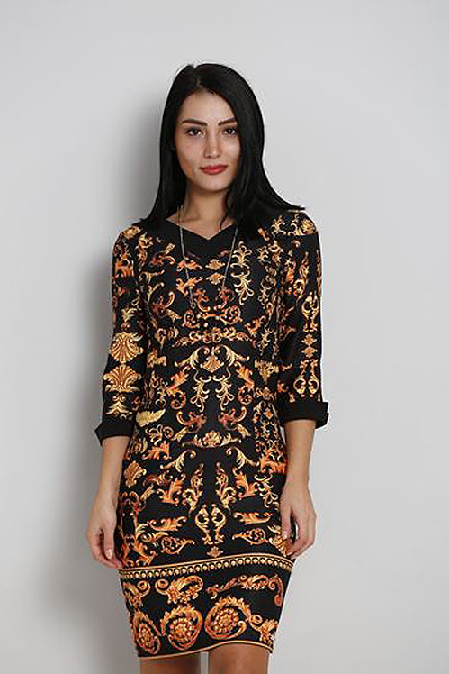 Printed Fitted Dress