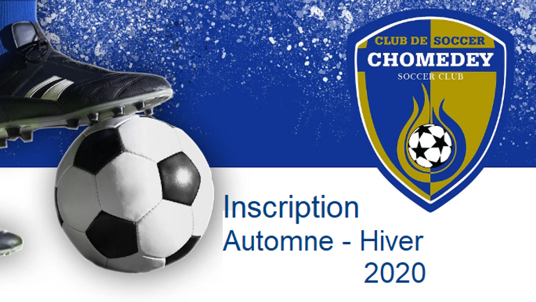 Inscriptions Saison Automne - Hiver 2020