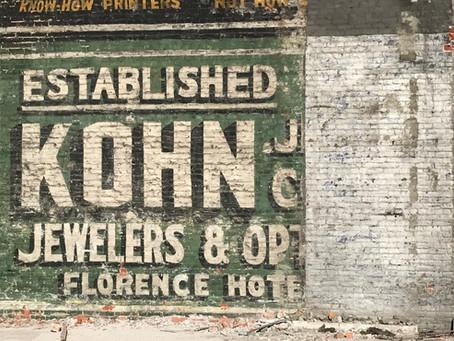 Herman Kohn jewelers sign revealed