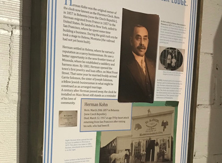 News about Leiser's Footsteps exhibit, now featured at The Historical Museum at Fort Missoula.