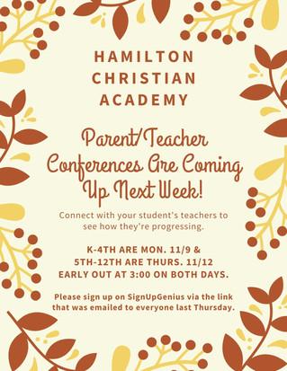Parent/Teacher Conferences Coming Up Soon!