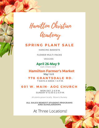 HCA's Plant Sale Fundraiser is Here!