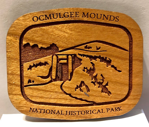 Ocmulgee Mounds NHP Wooden Magnet