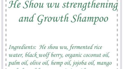 He shou wu strengthening and growth shampoo